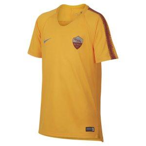 Maglia da calcio a manica corta Nike Breathe A.S. Roma Squad - Ragazzi - Gold