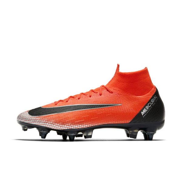 Scarpa da calcio per terreni morbidi CR7 Superfly 6 Elite Anti-Clog Pro - Red