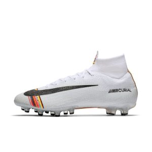 Scarpa da calcio professionale per erba artificiale Nike Superfly 6 Elite AG-PRO - Bianco
