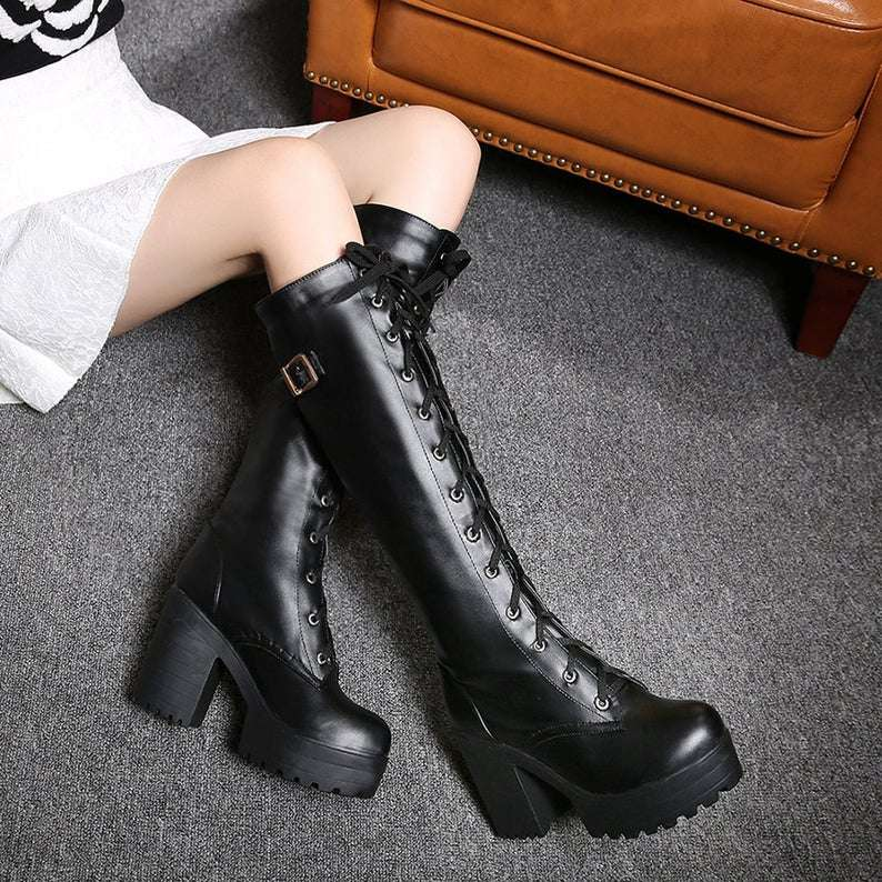 knee-high leather