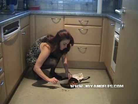 woman poops pants