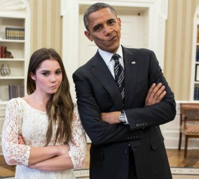 """Mc Kayla Maroney and Barack Omaba: """"Not impressed"""""""