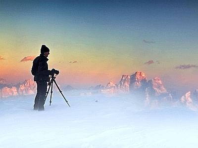 Photographer In The Clouds