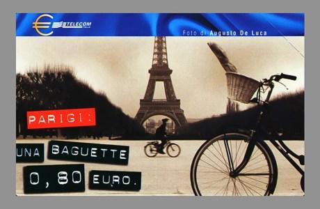 Carta telefonica di Parigi - foto Augusto De Luca