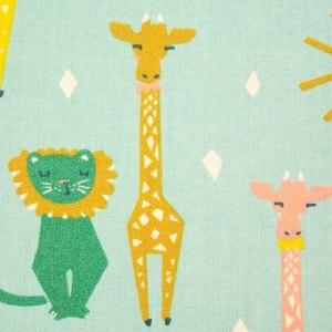 Grünes Fotoalbum Giraffe und Löwe