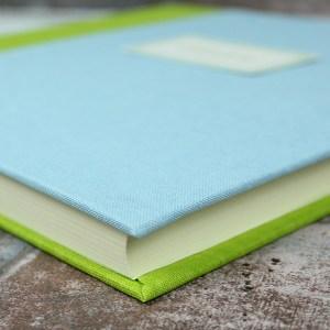 Pastell Gästebuch blau Grün