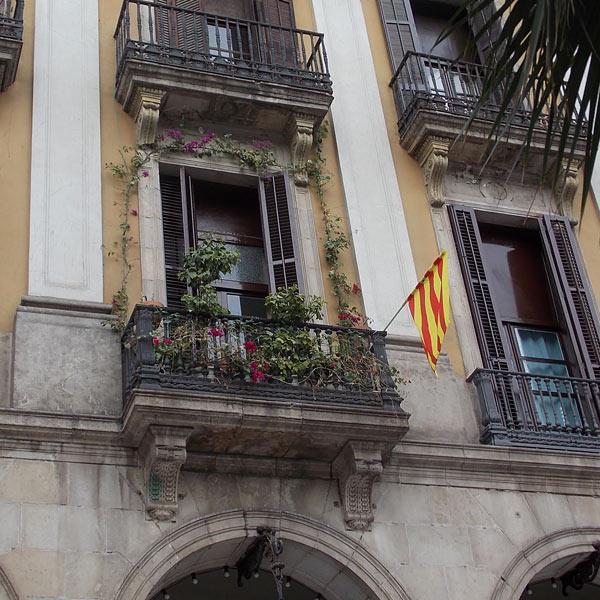 Die Flagge der Stolz der Katalanen
