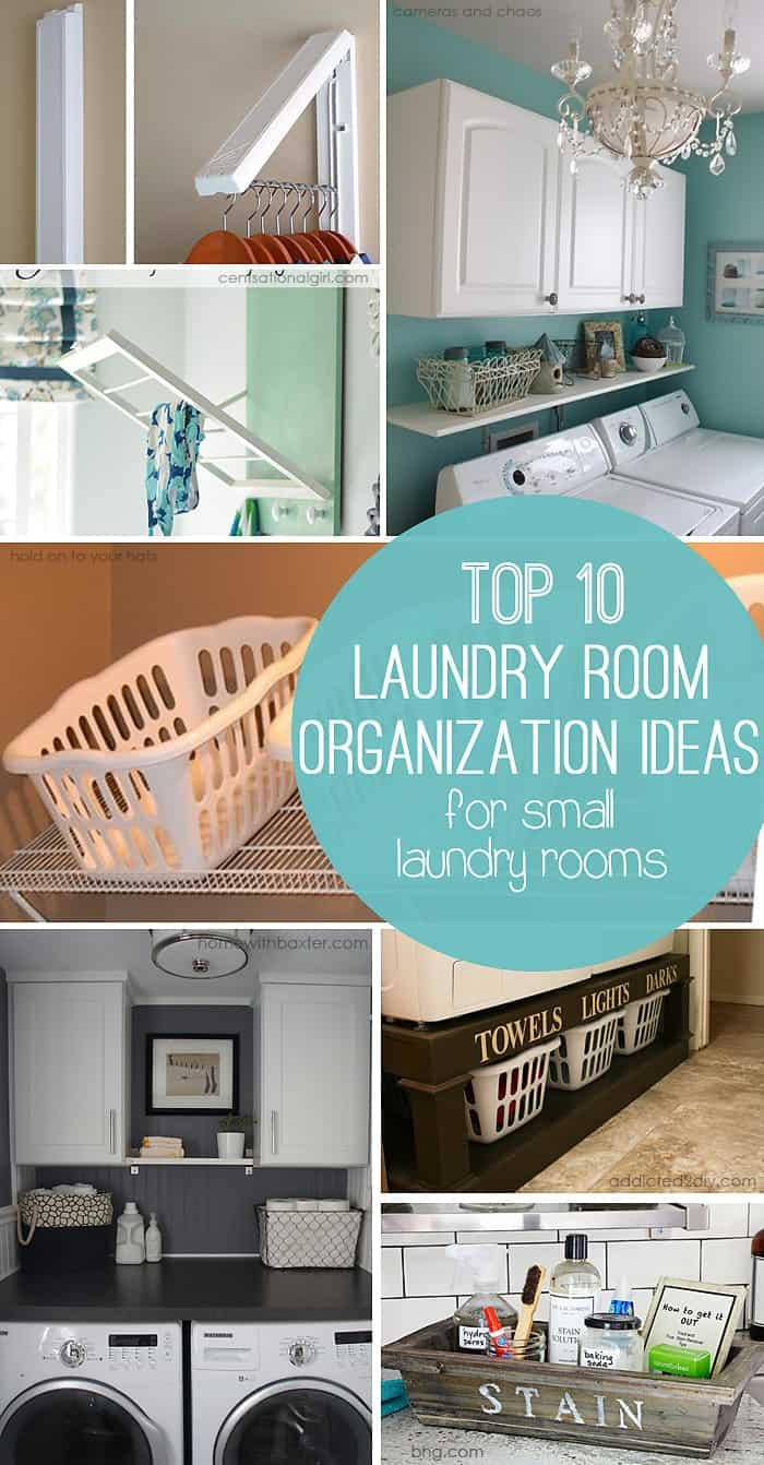 10 Storage Ideas for Small Laundry Rooms - Scattered ... on Laundry Room Organization Ideas  id=72244