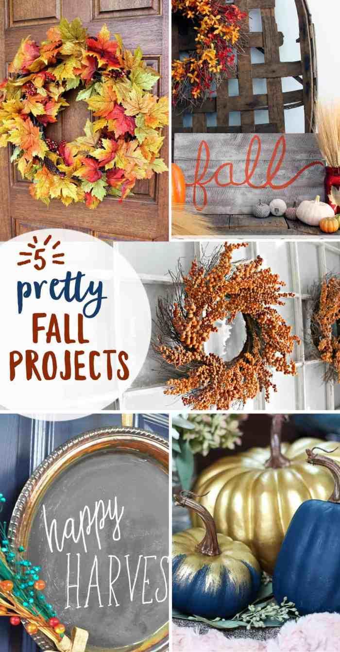 5 Pretty Lil Fall Projects