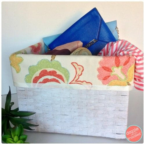 No Sew Basket Liners