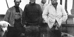 Frank-Wild-left-standing-beside-Sir-Ernest-Shackleton-after-their-first-attempt-to-reach-the-South-Pole