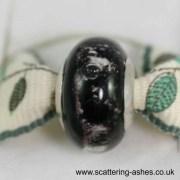 Pandora Style Memorial Charm Bead: Black