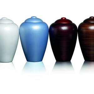 Biodegradable Water Urn Classic grey, blue, burgundy and walnut