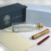 Message in a bottle bottle ashes sea meassage