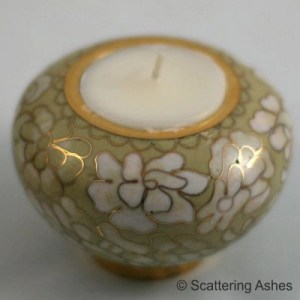cremation ashes candle holder