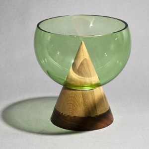 Glass Keepsake Bowl - Green