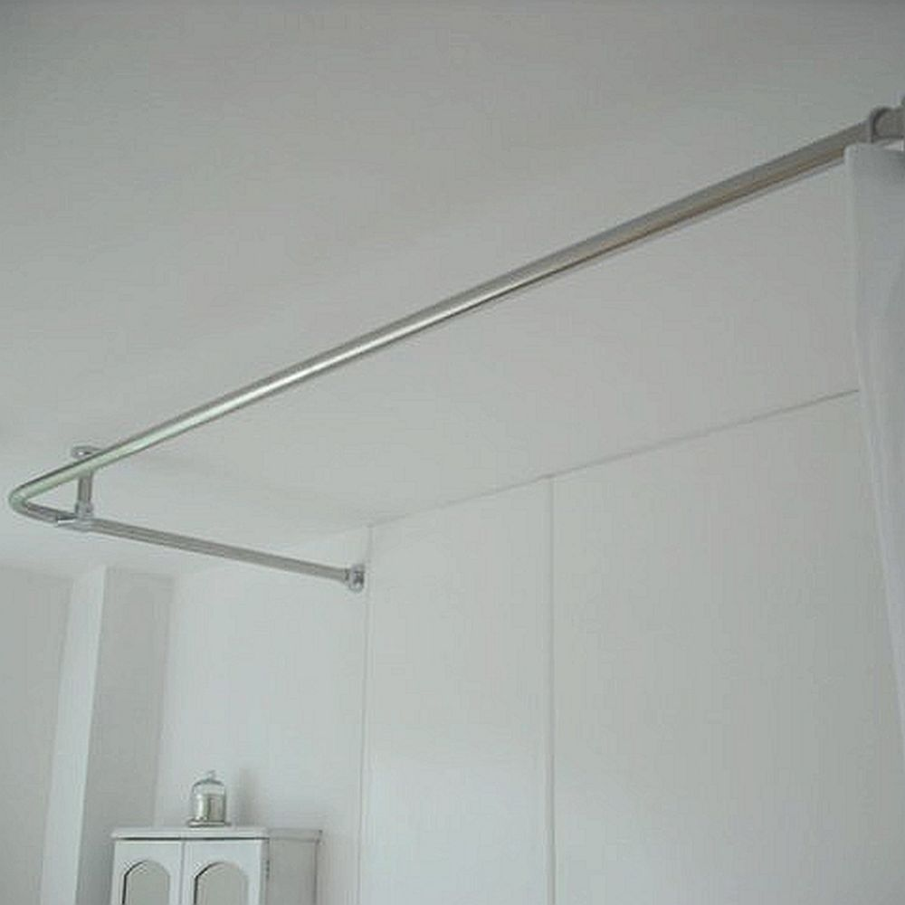 croydex p shaped shower curtain rail chrome memsaheb net
