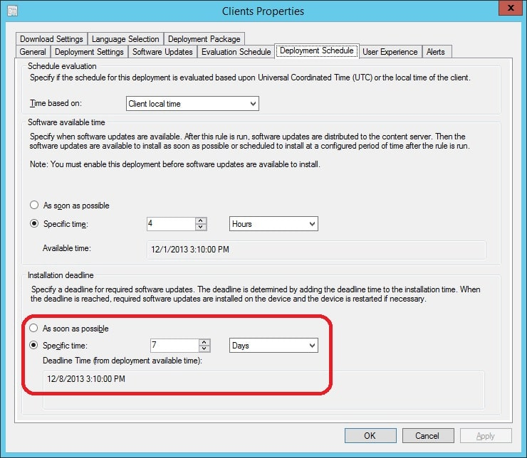 Modify the deadline time of an ADR Deployment with PowerShell