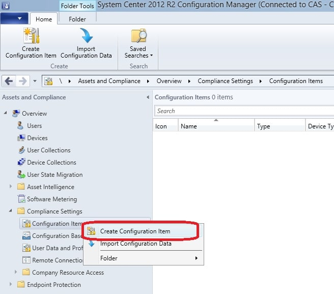 Use Compliance Settings to determine if Windows Firewall is enabled