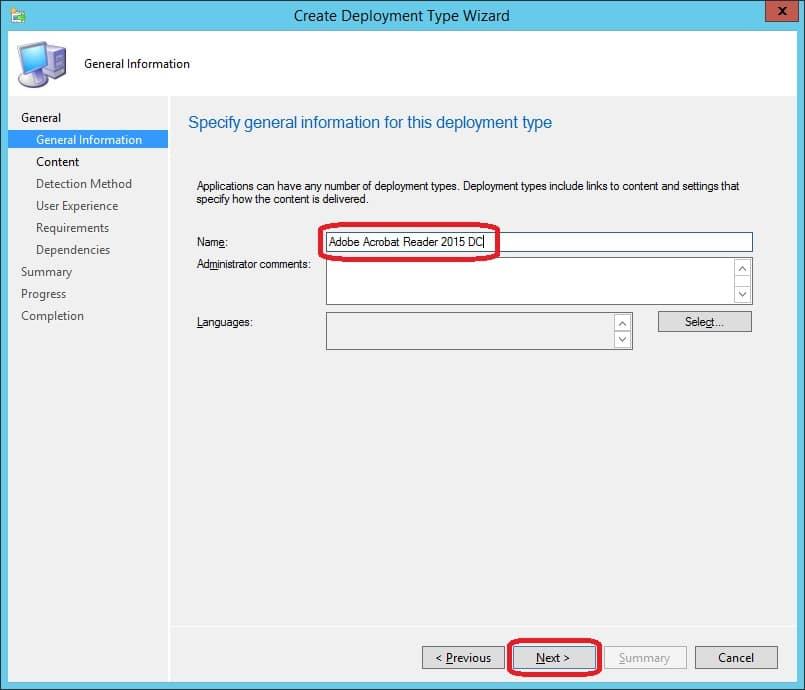 Deploy Adobe Acrobat Reader 2015 DC with ConfigMgr 2012     System