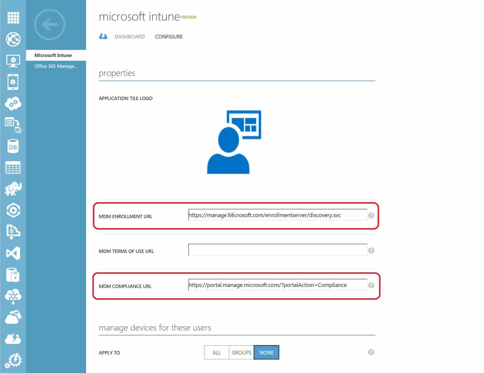 Configure Automatic Microsoft Intune Enrollment Of Windows