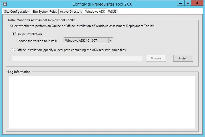 ConfigMgr Prerequisites Tool 2 0 0 – New version released