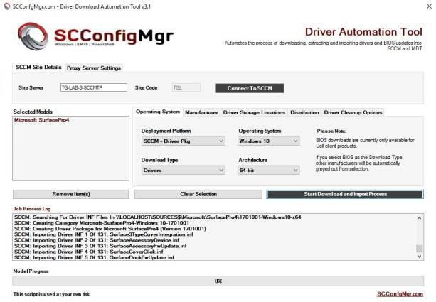 Driver Automation Tool – Version 3.1 Released