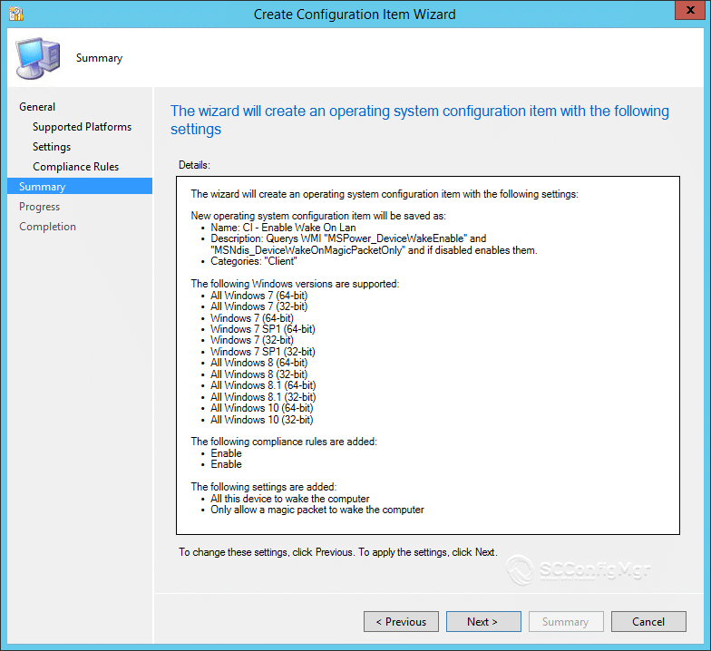 Wake On Lan With ConfigMgr Compliance Baseline | | System