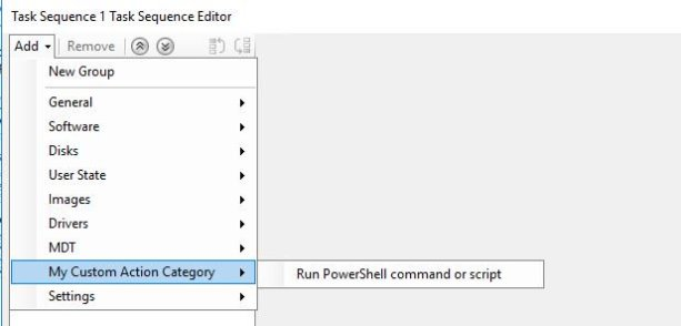 How to create a Custom Task Sequence Action for ConfigMgr