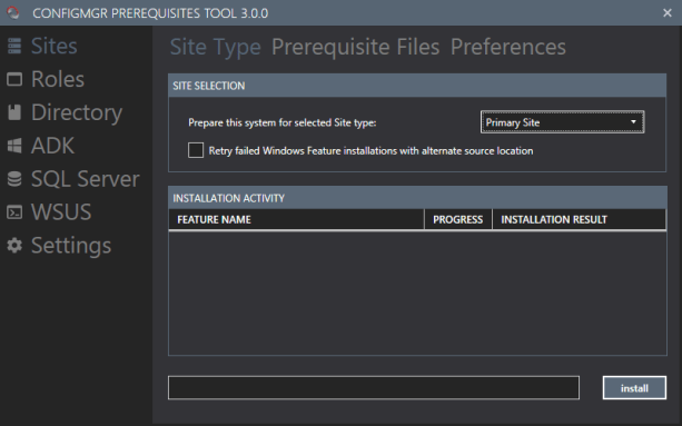 ConfigMgr Prerequisites Tool – Version 3.0.1 released