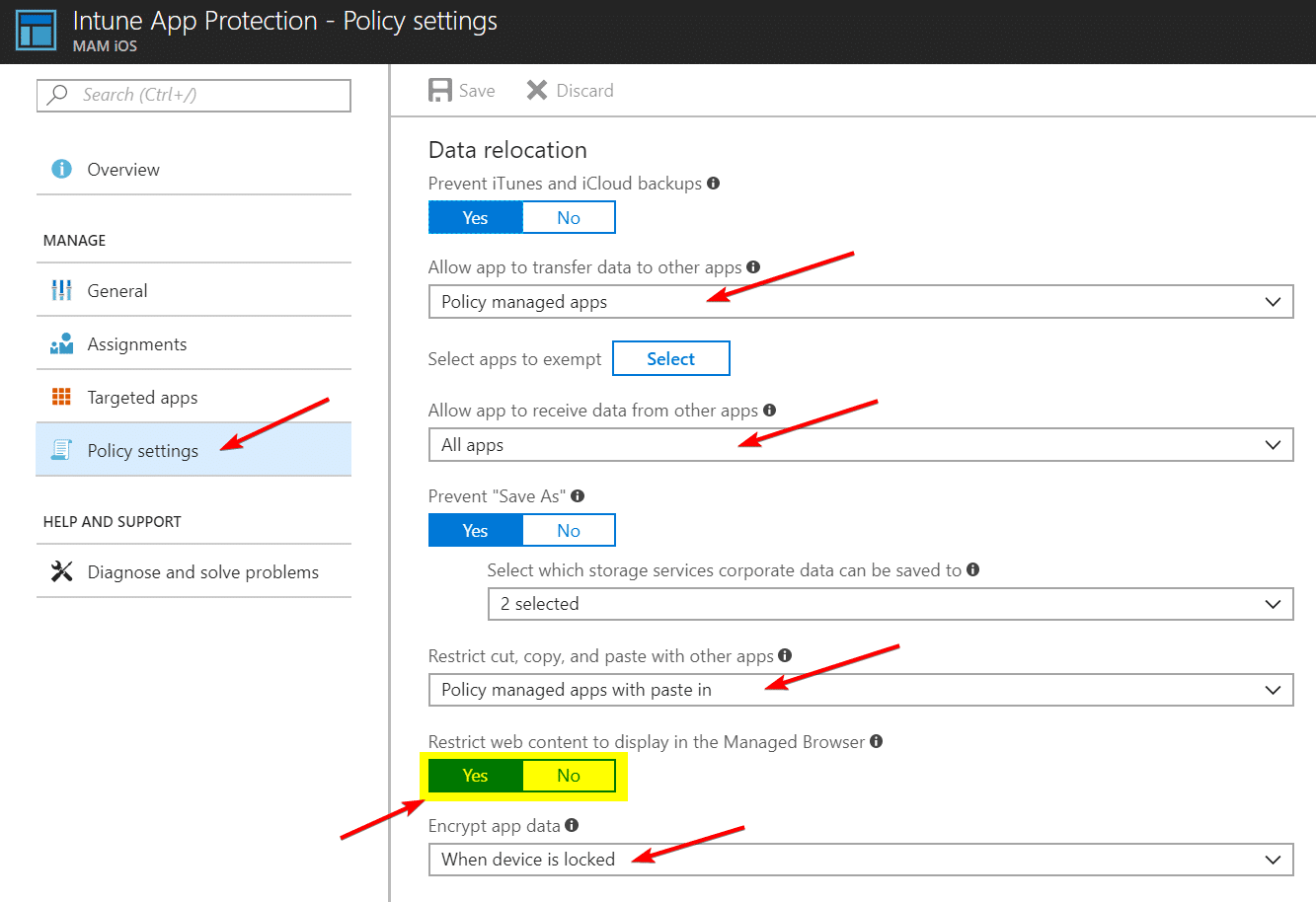 Intune Managed Browser with Azure AD Application Proxy and