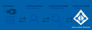 Image illustrating the authentication process of a FIDO2 login