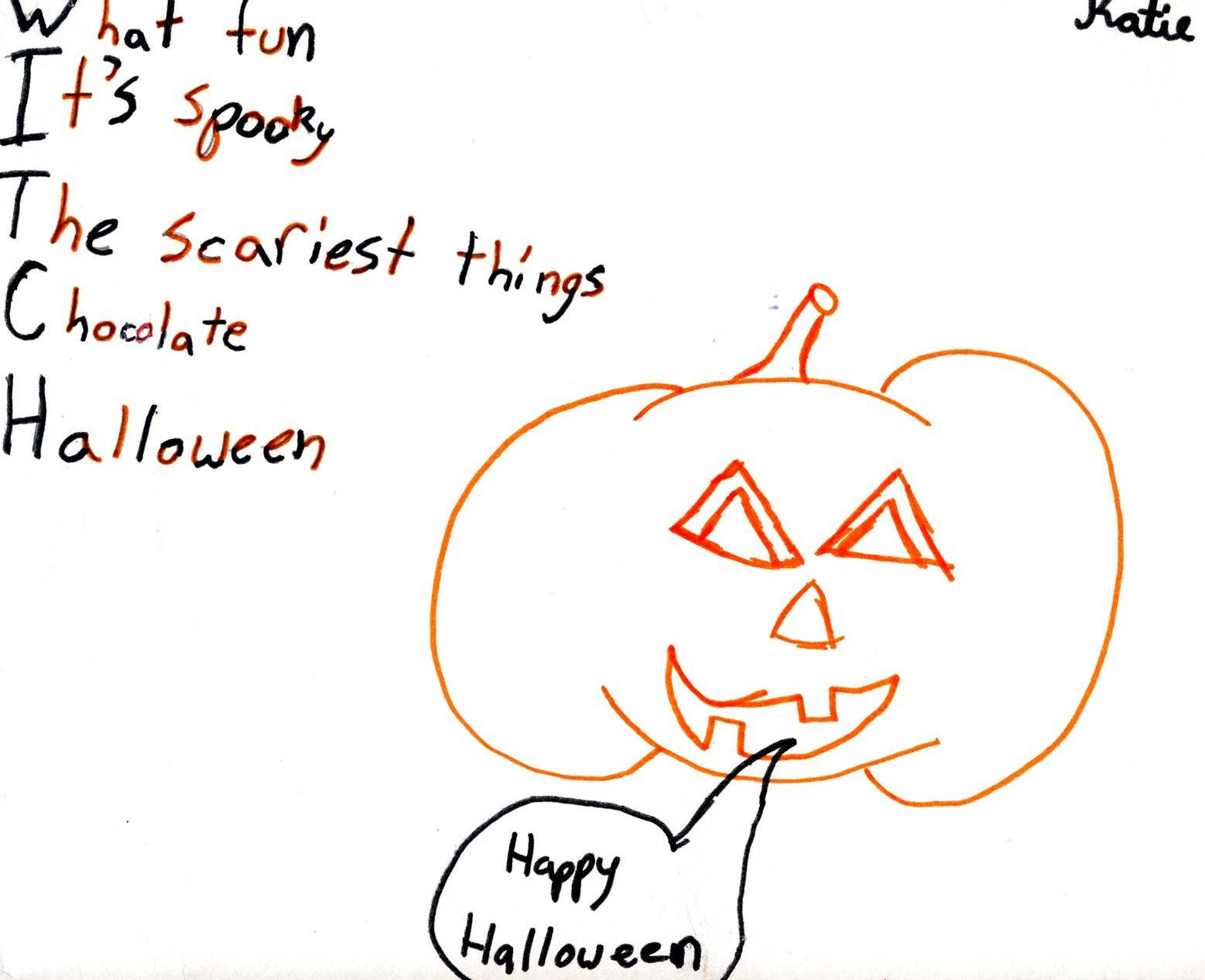 Acrostic Poem Examples Middle School