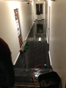 The Reed Hall at the University of Colorado Boulder was affected by the flood. Hutchinson, who lived on the third floor, did not have to evacuate. (Photo courtesy of Hutchinson)