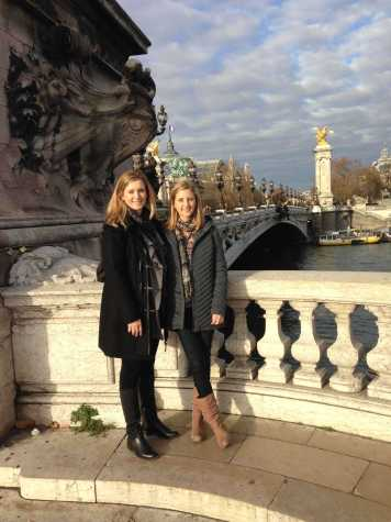 Lauren Taylor, '11, (right) spent three months in Paris in a language-immersion program after her sophomore year of college. Here, she stands with her mother, Cynthia Edwards, by the Pont Alexandre III near the Grand Palais.