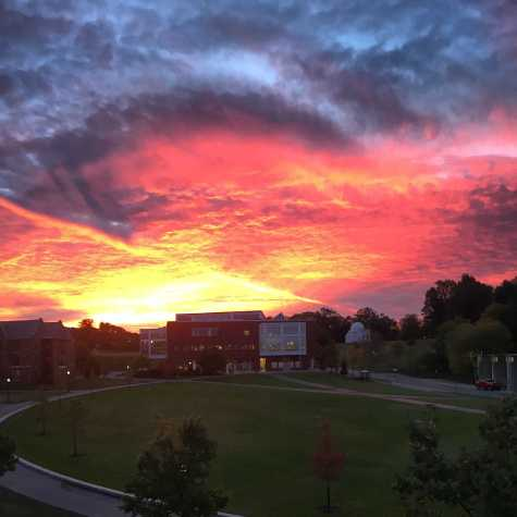 Williams wakes up to sunrises like this right outside her dorm-room window.