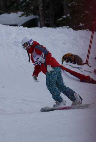 Senior snowboarder Aidan Galati placed seventh.