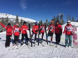 "The conditions were ""cold"" and ""sunny but perfect"" for the Cavs' first giant slalom race, according to coach Jason Kreps."