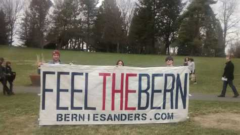 Junior Alexa Mathisen attended a Bernie Sanders rally on March 20.