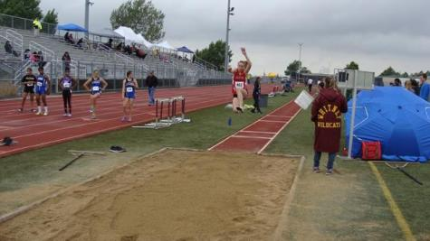 Freshman Heidi Johnson competes in the long jump at the SacTown Races on May 7.