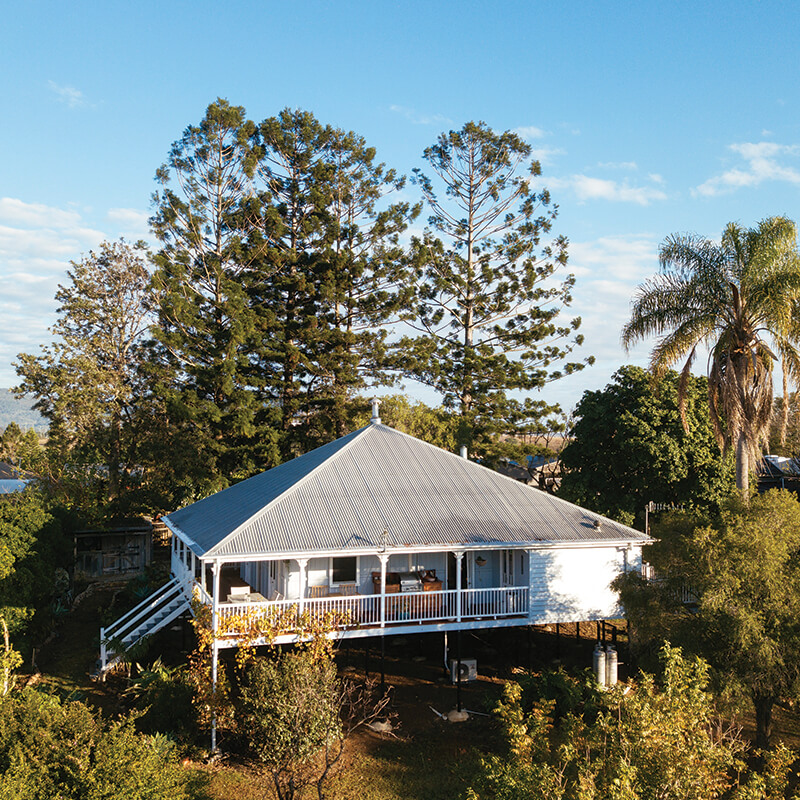 Aerial View Hammermeister House Boonah