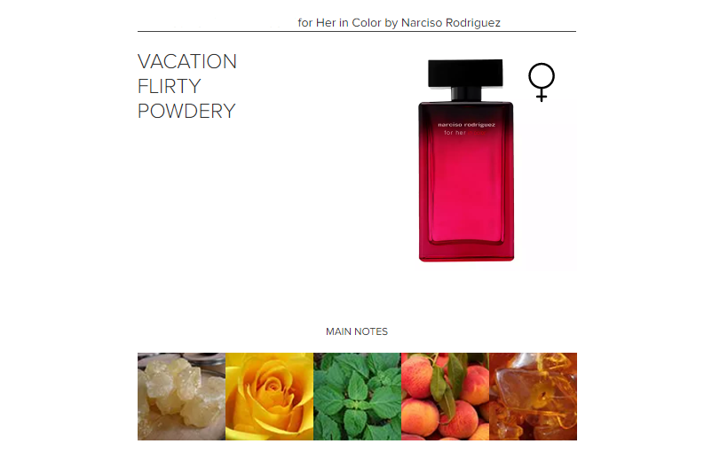For Her In Color By Narciso Rodriguez