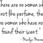 Marilyn Monroe Perfume Quote