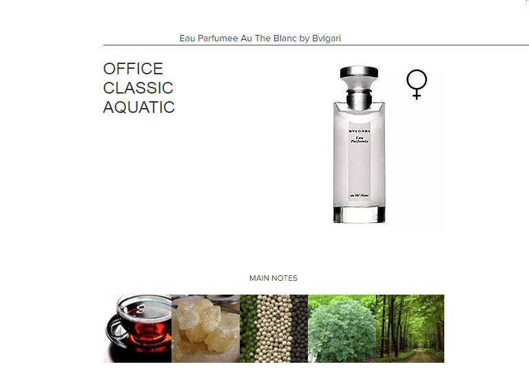 Eau Parfumee Au The Blanc by Bvlgari