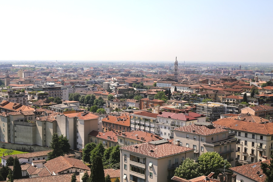 bergamo view from citta alta