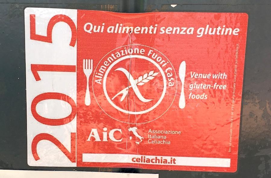 gluten free restaurant italy