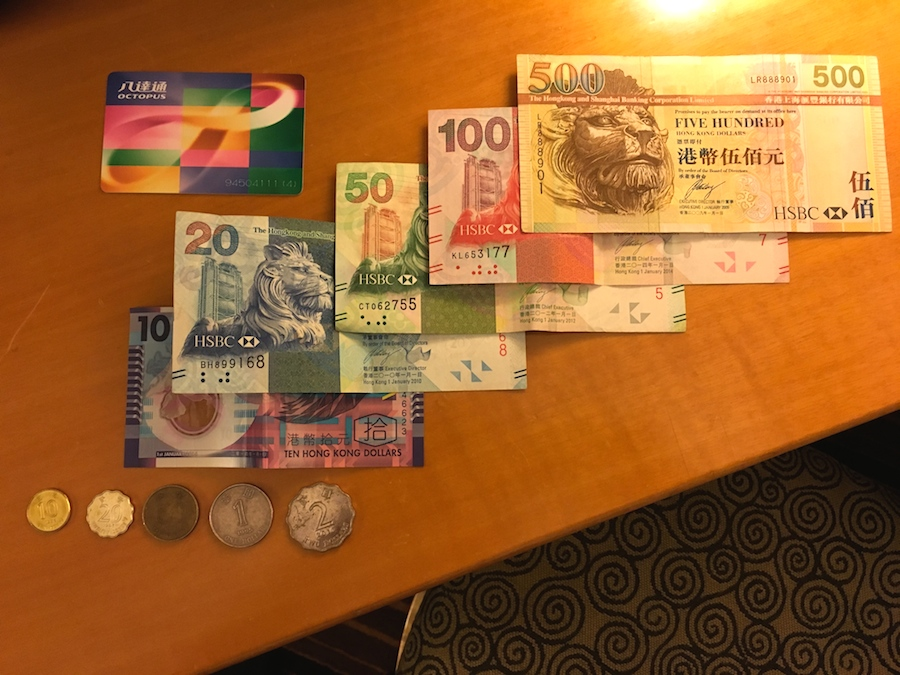 octopus card and hk currency