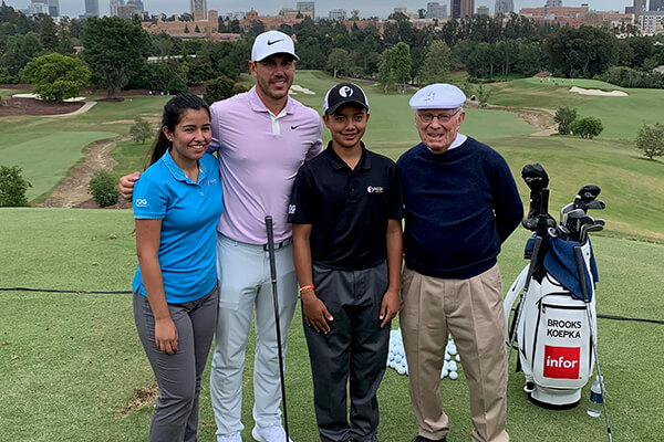 Juniors Join Special Clinic with Brooks Koepka