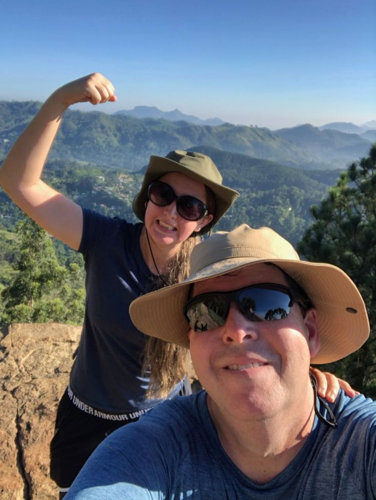 Carolyn and Chris on top of Ella Rock in Sri LAnka