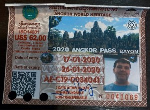 My temple pass showing 3 days valid and a color photo to prevent fraud